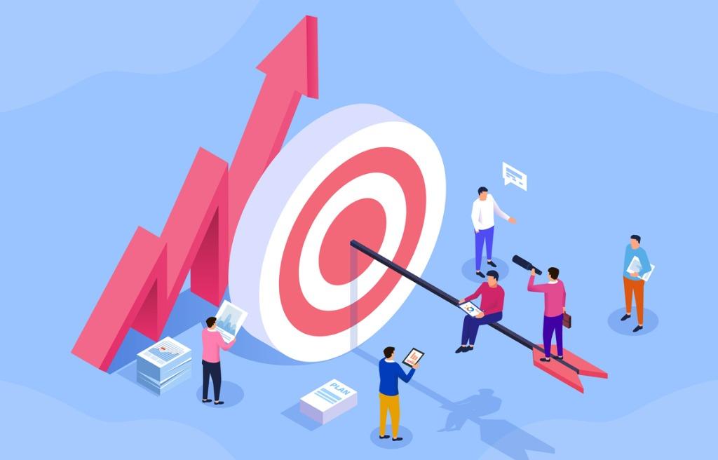 team-business-goals-active-employees-social-media-marketing-vector-id1158762452